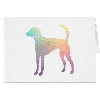 American Foxhound Geo Pattern Silhouette Pastel Card