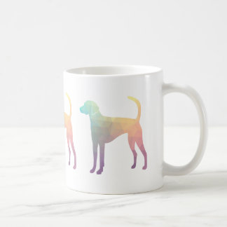 American Foxhound Geo Pattern Silhouette Pastel Coffee Mug