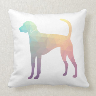 American Foxhound Geo Pattern Silhouette Pastel Throw Pillow