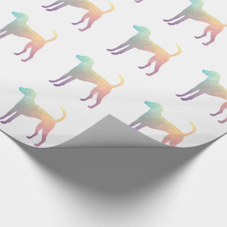 American Foxhound Geo Pattern Silhouette Pastel Wrapping Paper