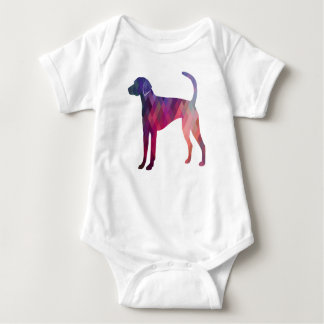 American Foxhound Geo Pattern Silhouette Pink Baby Bodysuit
