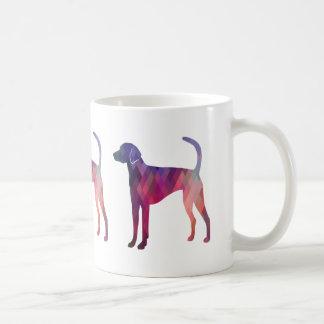 American Foxhound Geo Pattern Silhouette Pink Coffee Mug