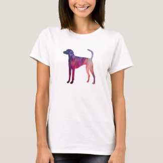 American Foxhound Geo Pattern Silhouette Pink T-Shirt