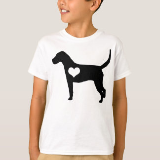 American Foxhound Heart Kids T-Shirt