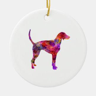 American Foxhound in watercolor 2 Ceramic Ornament