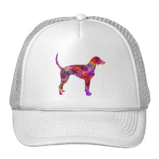 American Foxhound in watercolor 2 Trucker Hat