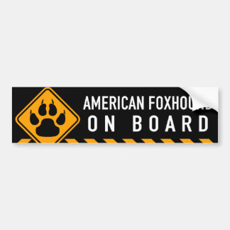 American Foxhound On Board Bumper Sticker