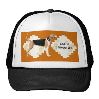 American Foxhound on Tan Leaves Trucker Hat