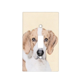 American Foxhound Painting - Cute Original Art Light Switch Cover