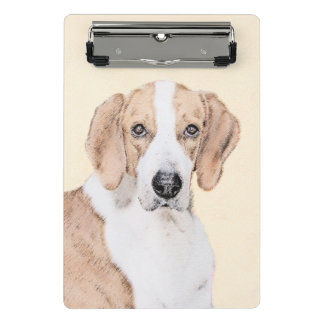 American Foxhound Painting - Cute Original Dog Art Mini Clipboard