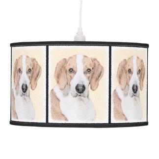 American Foxhound Painting - Cute Original Dog Art Pendant Lamp
