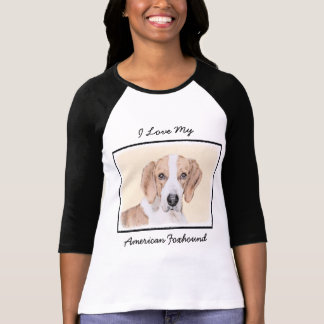 American Foxhound Painting - Cute Original Dog Art T-Shirt