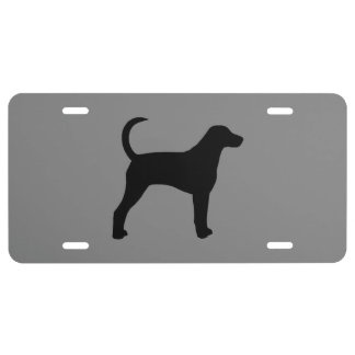 American Foxhound Silhouette License Plate