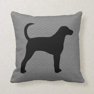American Foxhound Silhouette Throw Pillow