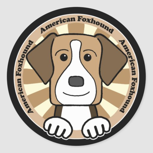 American Foxhound Stickers