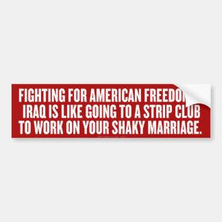 American Freedom Bumper Sticker