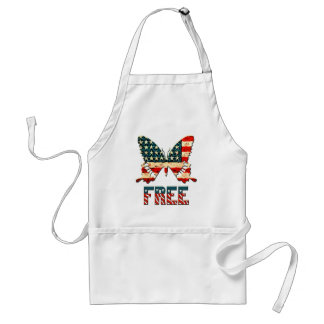 American Freedom Butterfly Adult Apron