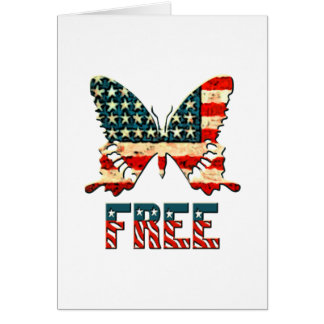 American Freedom Butterfly Greeting Card