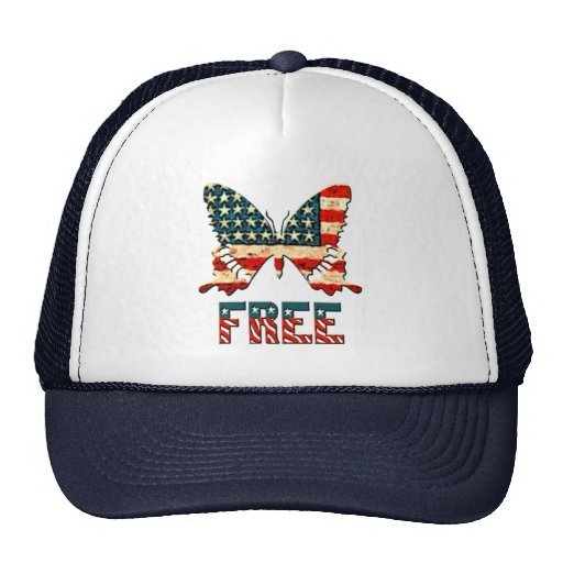 American Freedom Butterfly Trucker Hat