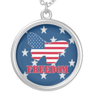 American Freedom Butterfly Necklace