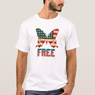 American Freedom Butterfly T-Shirt