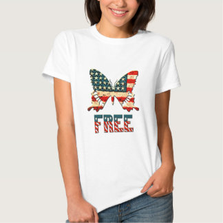 American Freedom Butterfly T Shirts