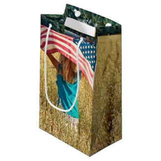 American Freedom Flag Small Gift Bag