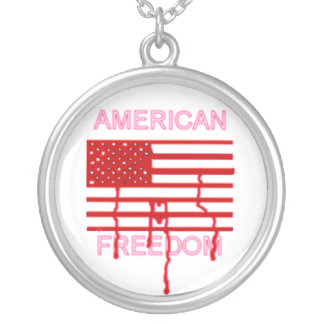 AMERICAN FREEDOM SILVER PLATED NECKLACE