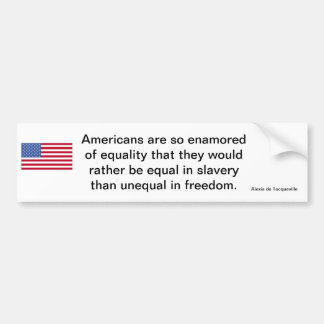 American Freedom Statement Bumper Sticker