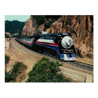 American Freedom Train 4449 at Cape Horn, Californ Postcard