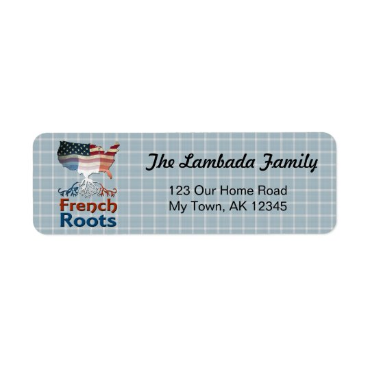 American French Roots Address Labels