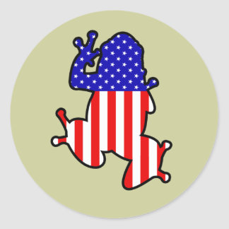 American Frog Classic Round Sticker