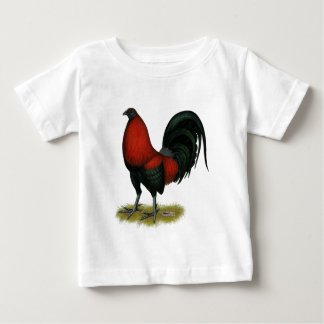 American Game BB Black Red Rooster Baby T-Shirt
