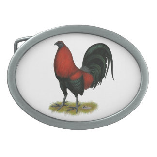 American Game BB Black Red Rooster Belt Buckles