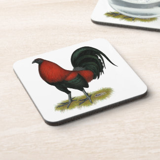 American Game BB Black Red Rooster Coaster