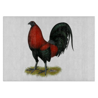 American Game BB Black Red Rooster Cutting Board