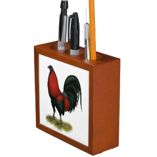 American Game BB Black Red Rooster Desk Organizer
