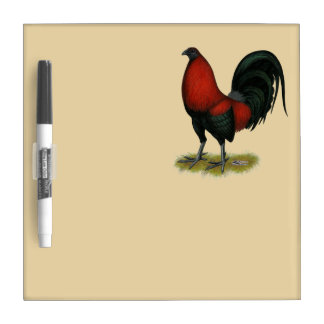 American Game BB Black Red Rooster Dry Erase Board