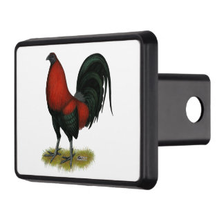 American Game BB Black Red Rooster Hitch Covers