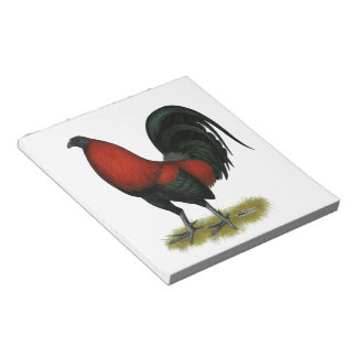 American Game BB Black Red Rooster Notepad