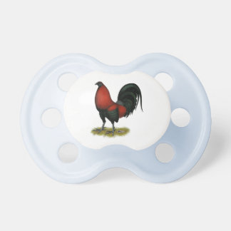 American Game BB Black Red Rooster Pacifier