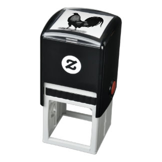 American Game BB Black Red Rooster Self-inking Stamp