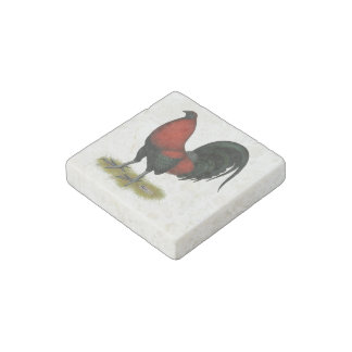 American Game BB Black Red Rooster Stone Magnets