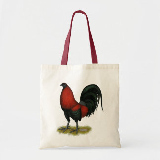 American Game BB Black Red Rooster Tote Bag