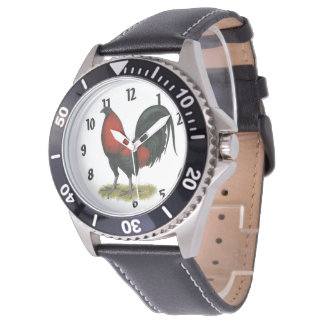 American Game BB Black Red Rooster Watch