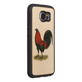 American Game BB Black Red Rooster Wood Phone Case