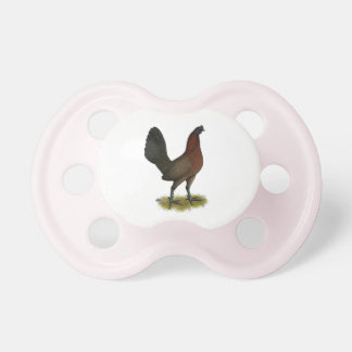 American Game Black Red Hen Pacifier