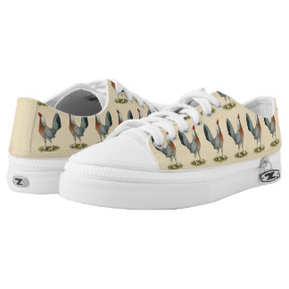 American Game Hen Silver Blue Low-Top Sneakers