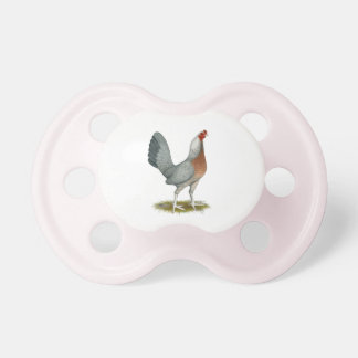 American Game Hen Silver Blue Pacifier