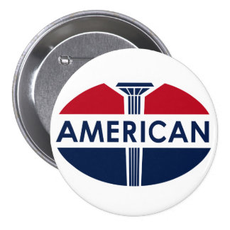 American Gas Station sign. Flat version 3 Inch Round Button